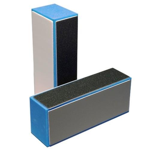 Körömpolírozó buffer 4 oldalú szürke-kék