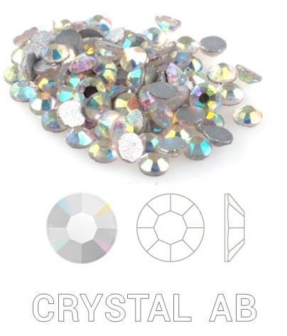 *****Kristálykő 1440 db Crystal AB Választható méret