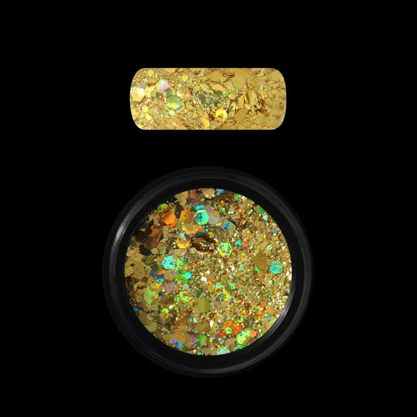 Moyra Holo glitter mix, Dark Gold