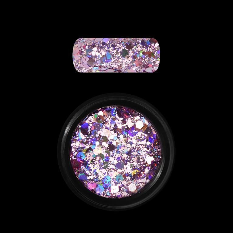 Moyra Holo glitter mix No. 03, Rózsaszín