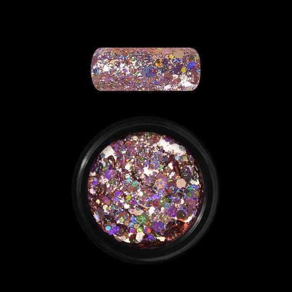 Moyra Holo glitter mix, Rose Gold