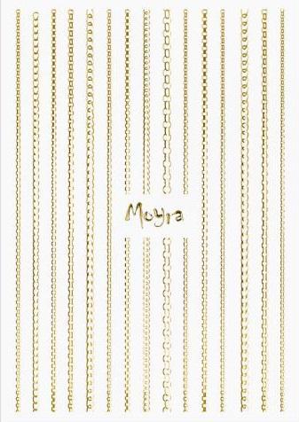 Moyra Körömdíszítõ csík CHAIN No.01 Gold