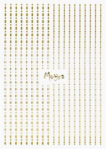 Moyra Körömdíszítõ csík DOTS No.01. Gold