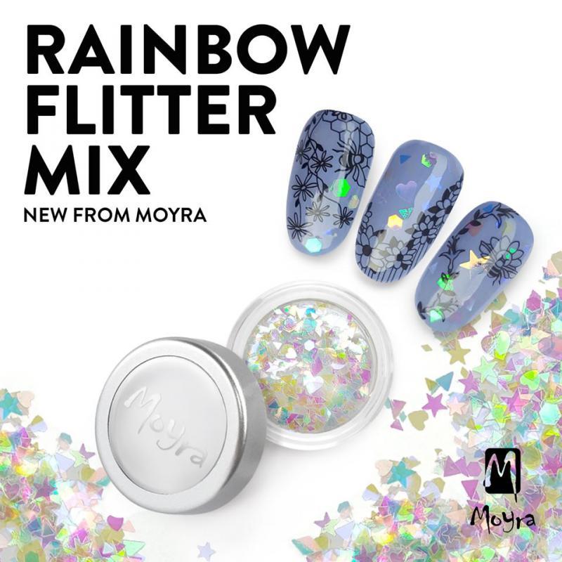 Moyra Rainbow flitter mix