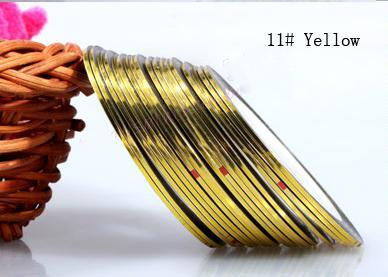 Műköröm díszítő csík 11-Yellow