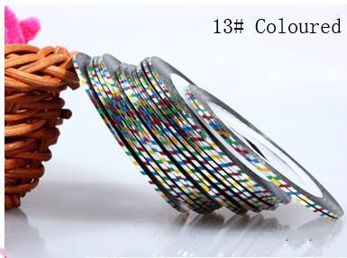 Műköröm díszítő csík 13-Coloured