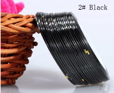 Műköröm díszítő csík 2-Black