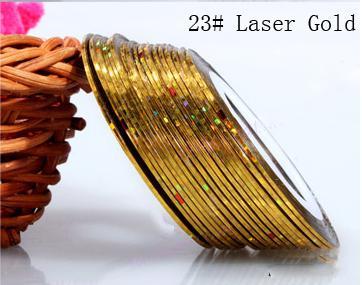 Műköröm díszítő csík 23-Laser gold