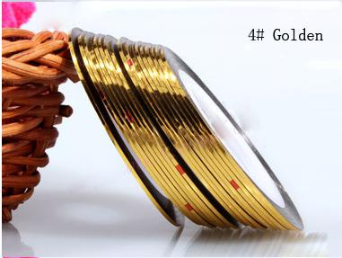 Műköröm díszítő csík 4-Gold