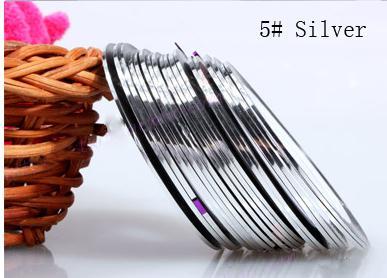 Műköröm díszítő csík 5-Silver