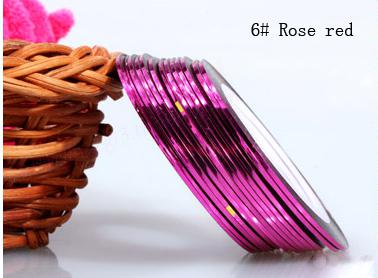 Műköröm díszítő csík 6-Rose red