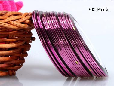Műköröm díszítő csík 9-Pink