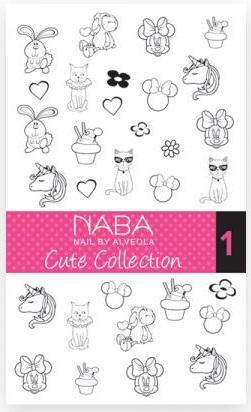 NABA Fill Out Nail Tattoo Cute 01 - Körömmatrica