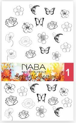 NABA Fill Out Nail Tattoo Sprinig 01 - Körömmatrica