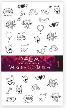 NABA Fill Out Nail Tattoo Valentine 01 - Körömmatrica NA654028.01