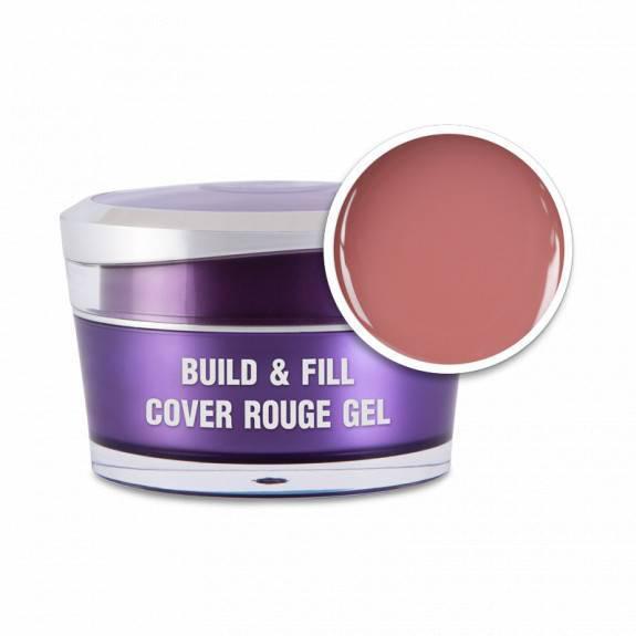 Perfect Nails Körömágyhosszabbító zselé Build&Fill; Cover Gel Rouge 50ml