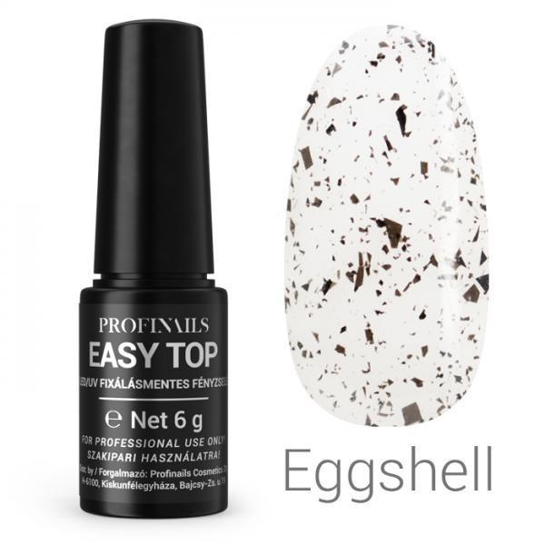 Profinails Easy Top fixálásmentes LED/UV fényzselé 6g (egg shell)
