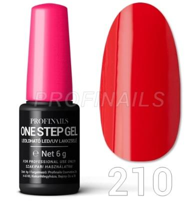 Profinails One Step Gel LED/UV lakkzselé 6gr No.210