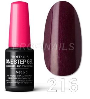 Profinails One Step Gel LED/UV lakkzselé 6gr No.216