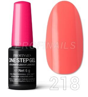 Profinails One Step Gel LED/UV lakkzselé 6gr No.218