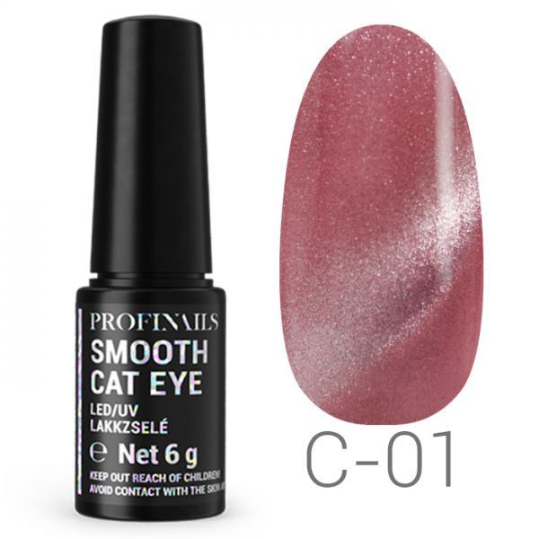 Profinails Smooth Cat Eye LED/UV lakkzselé 6gr C-01