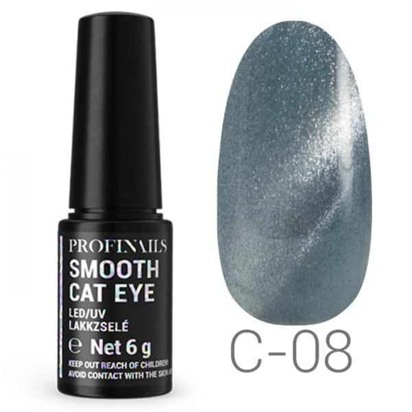 Profinails Smooth Cat Eye LED/UV lakkzselé 6gr C-08
