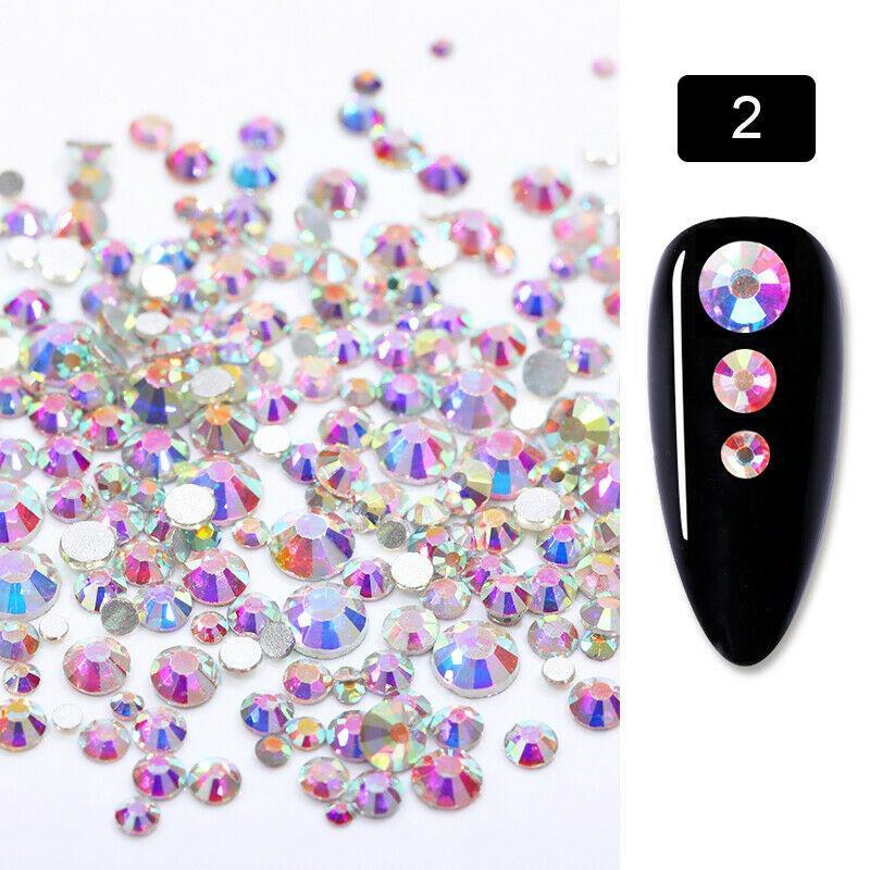 Vegyes méretű kristálykő 720 db 02 Crystal AB