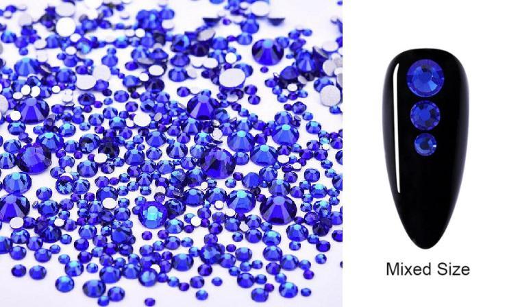 Vegyes méretű kristálykő 720 db 13. Sapphire