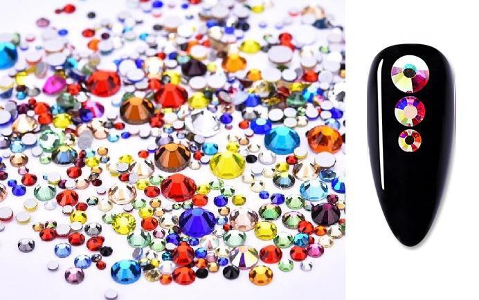 Vegyes méretű kristálykő 720 db 4. Vegyes szín