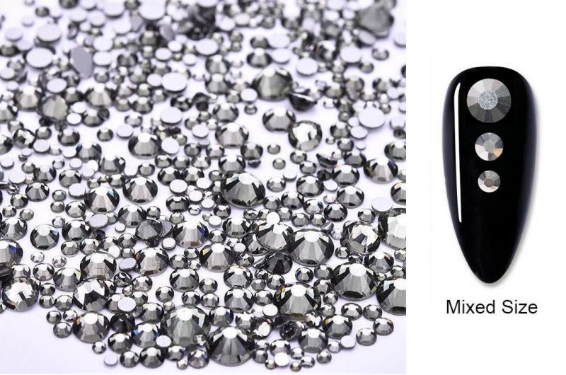 Vegyes méretű kristálykő 720 db 5. Black Diamond