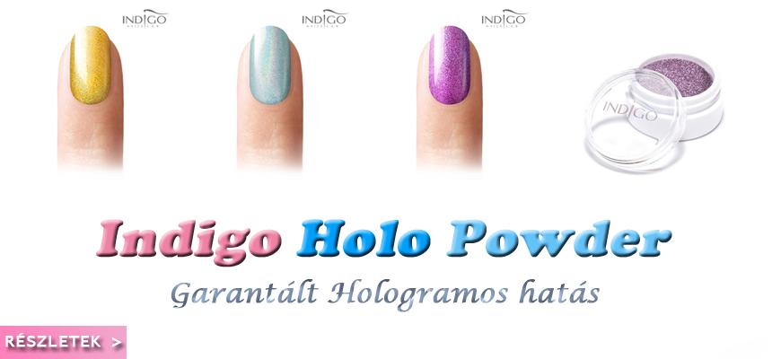 Indigo holo powder