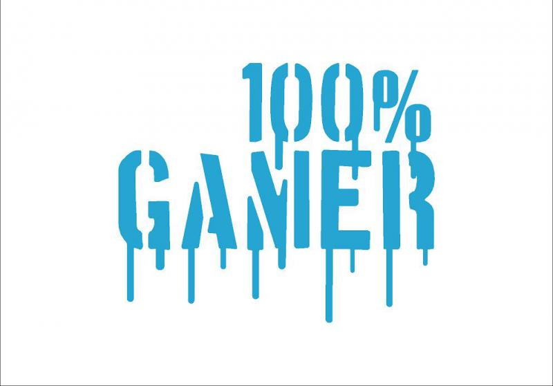 100% Gamer matrica (közepes)