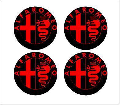 Alfa Romeo felniközép matrica szett (digit)