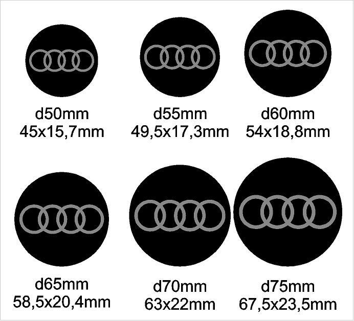 Audi felni közép matrica szett
