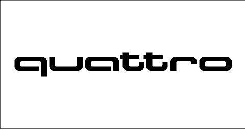 Audi Quattro matrica (100x11 mm)