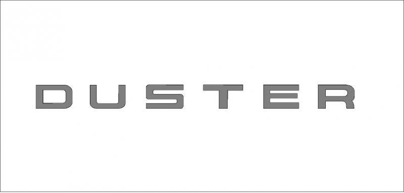 Duster matrica (nagy méret)