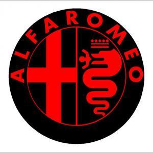 Alfa Romeo felni közép matrica szett (digit)
