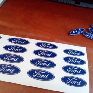 Ford felni közép matrica szett (digit, ovális)