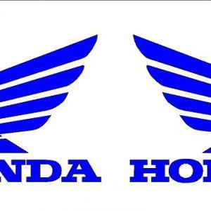 Honda szárnyas matrica gyári méret!