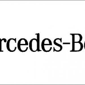 Mercedes-Benz matrica (nagy méret)
