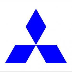 Mitsubishi logó matrica (M1)