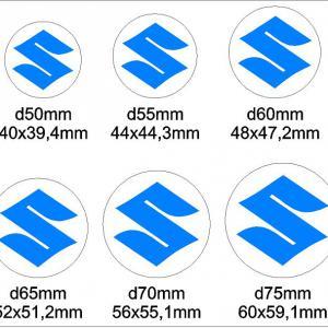 Suzuki (S) felniközép matrica szett