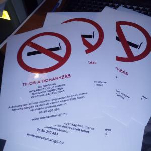 Tilos a dohányzás matrica A/4-es