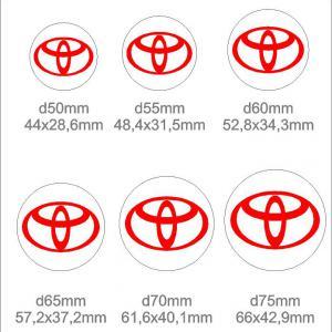 Toyota felni közép matrica szett (ovális)