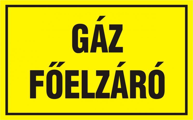Gáz főelzáró matrica