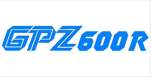 GPZ 600R matrica (M1)
