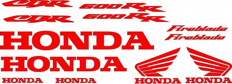 Honda CBR 600RR fireblade matrica szett
