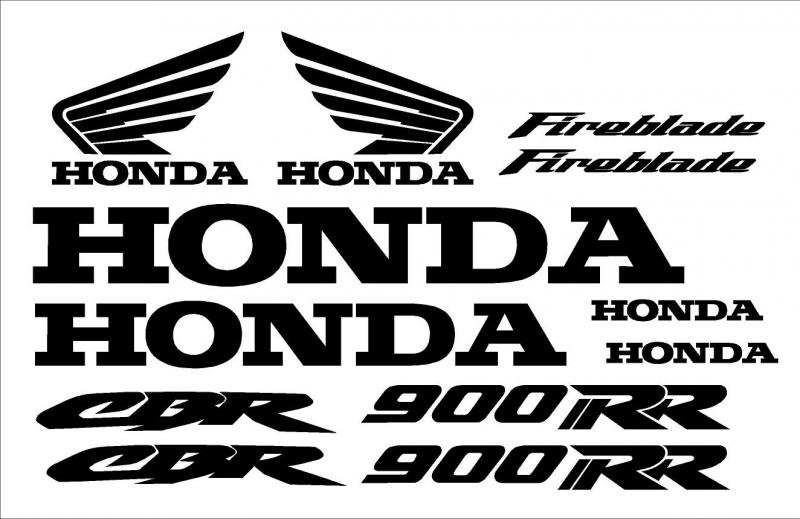Honda CBR 900RR fireblade matrica szett gyári méret!