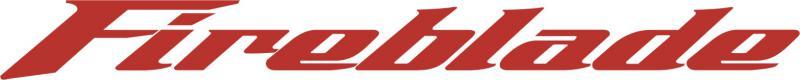 Honda Fireblade matrica (200x20 mm)