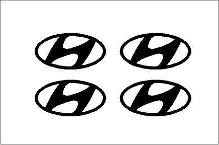 Hyundai felniközép matrica szett